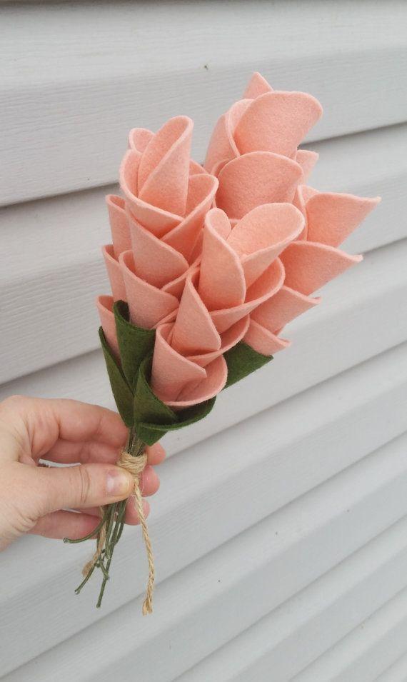 Wedding bouquet, wool felt flower bouquet, flower arrangement ...