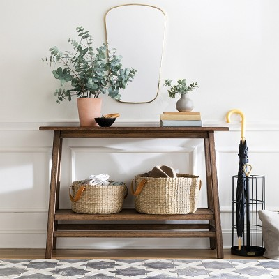 Haverhill Reclaimed Console Table Brown Threshold Target Farmhouse Console Table Magnolia Home Decor Reclaimed Wood Console Table