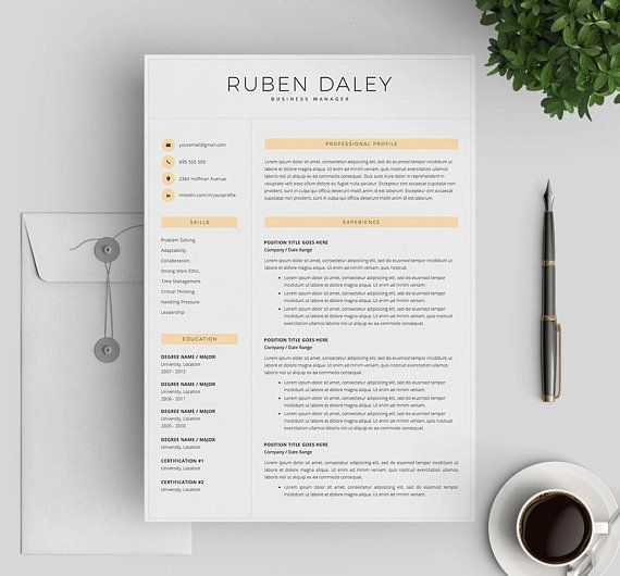 modern resume template for word professional resume template 3 pages printable resume template