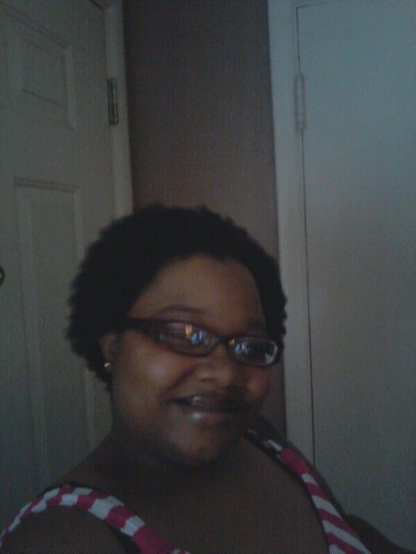 Rocking my natural...thank God it's growing!