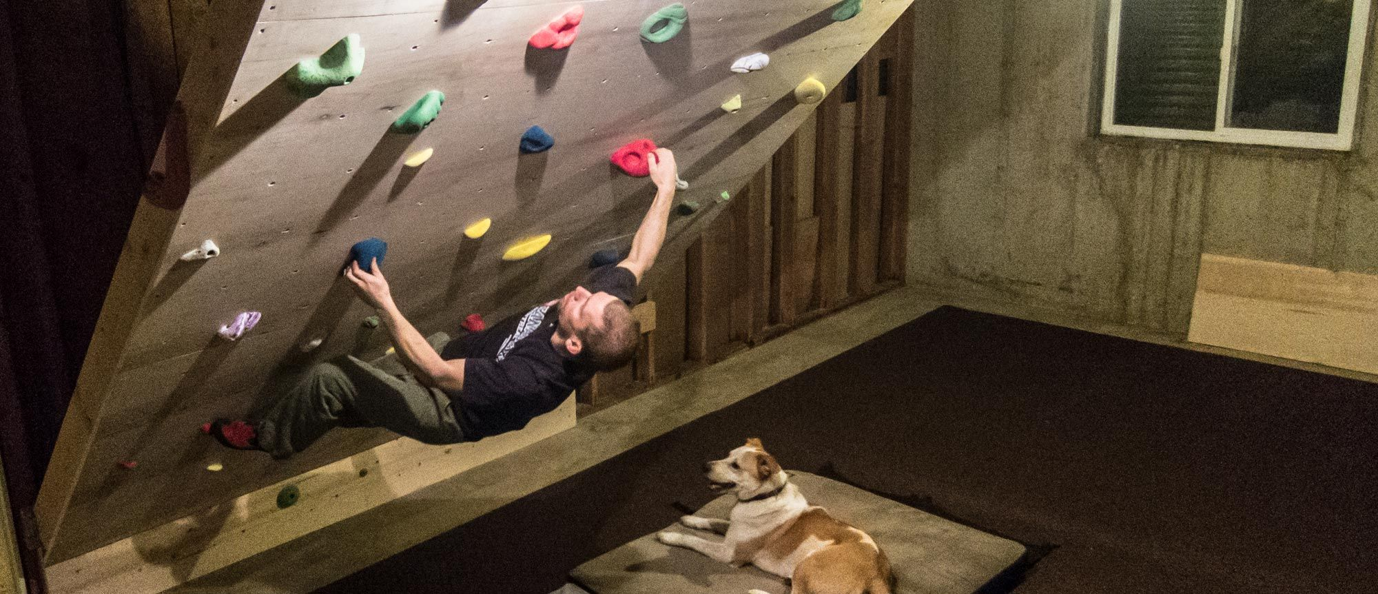 Home Rock Climbing Wall Design custom designed rock climbing wall contemporary home gym How To Build Your Own Basement Bouldering Wall In 10 Steps