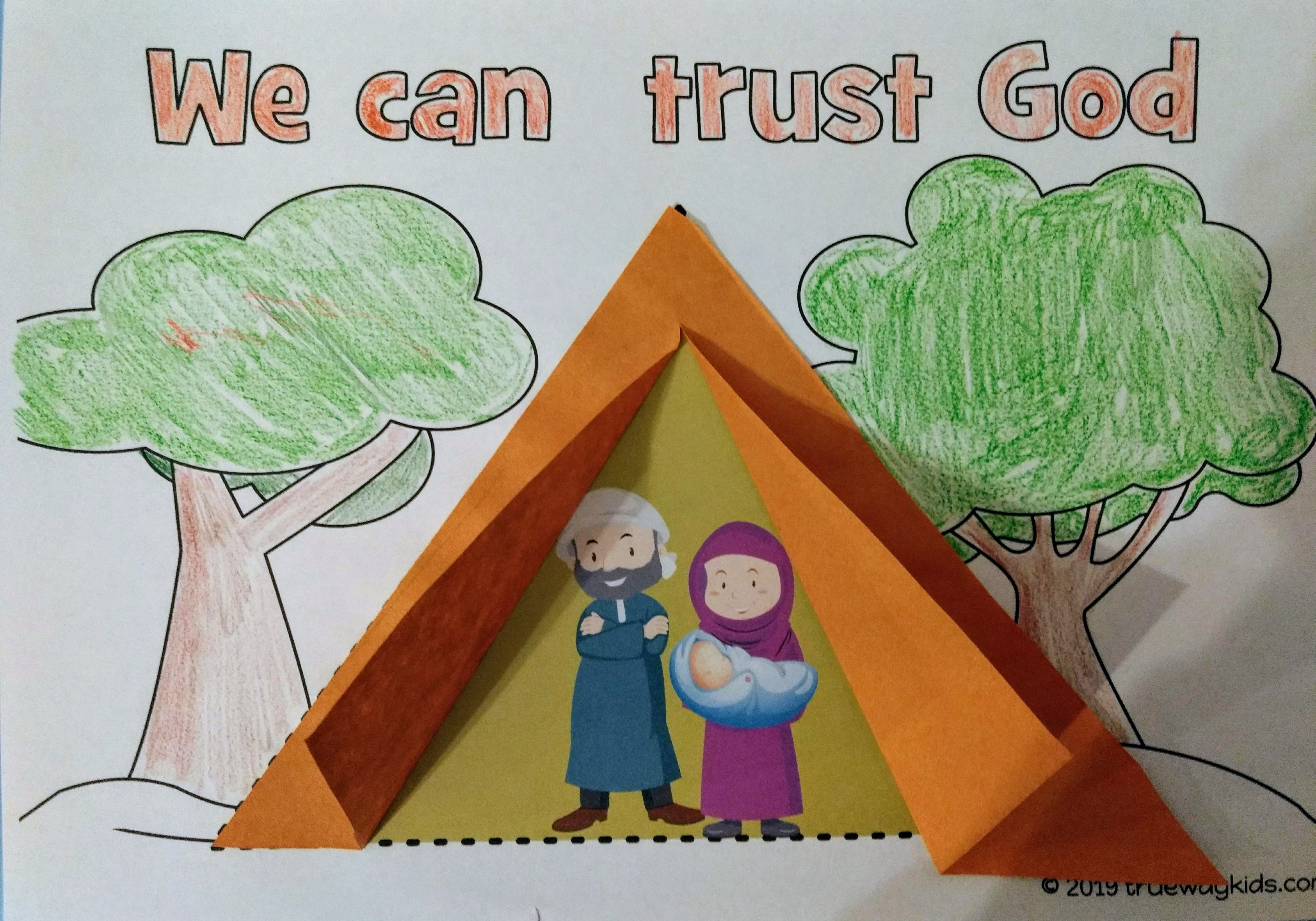 This Easy 3d Tent Craft Is Ideal For Teaching About Isaac
