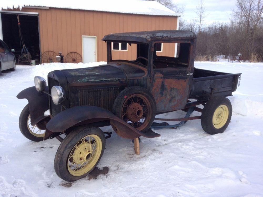 Ford Model A Pickup truck parts 1930 rat rod fender box hood ...