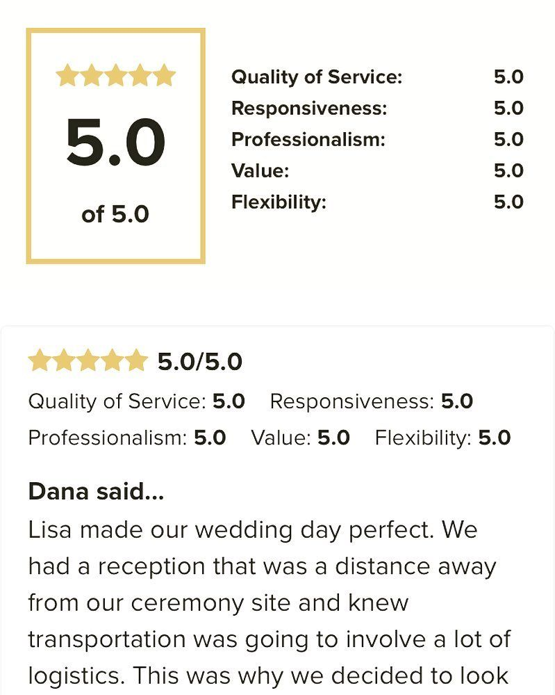 So proud! Another five star review!!!! Thank you to Dana and Brennan! #ccblct #CCBL #weddingplanner #weddingdesigner #ctweddingplanner #ctweddingdesigner #weddinginspo #weddinginspiration #gettingitdone #teamccblct