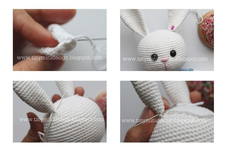 Amigurumi Bunny Free : Tiny mini design amigurumi bunny free pattern amigurumi