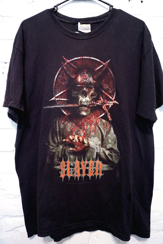 Slayer Vintage Tour TShirt Metal size Large by DiscoWitchVintage, $25.00