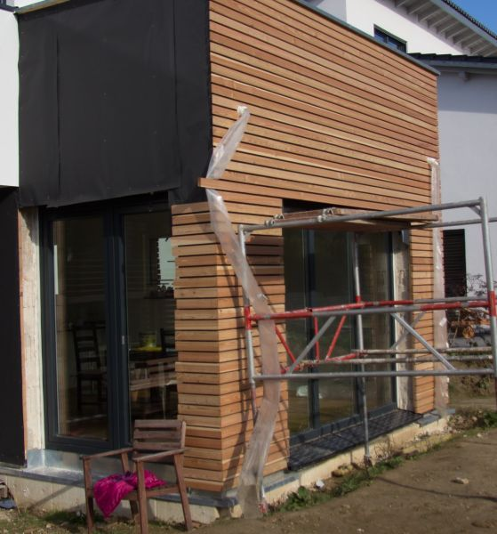 Fassadenverkleidungshaus mit Lärchenholz – Bauanleitung zum Selbstbau – 1-2-do …   – Draussen