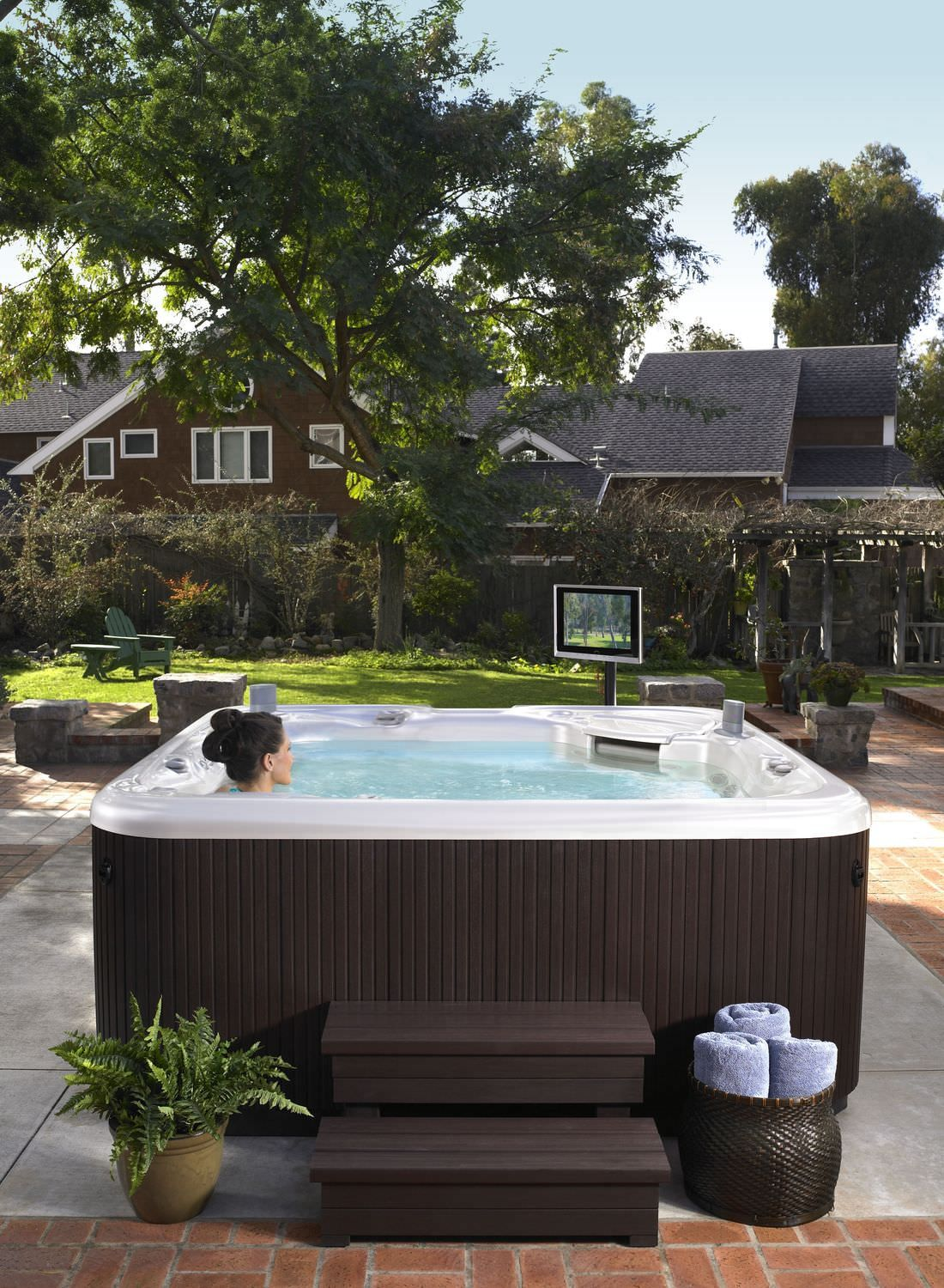 aria hot spring spa seats 5 in celebration of their. Black Bedroom Furniture Sets. Home Design Ideas