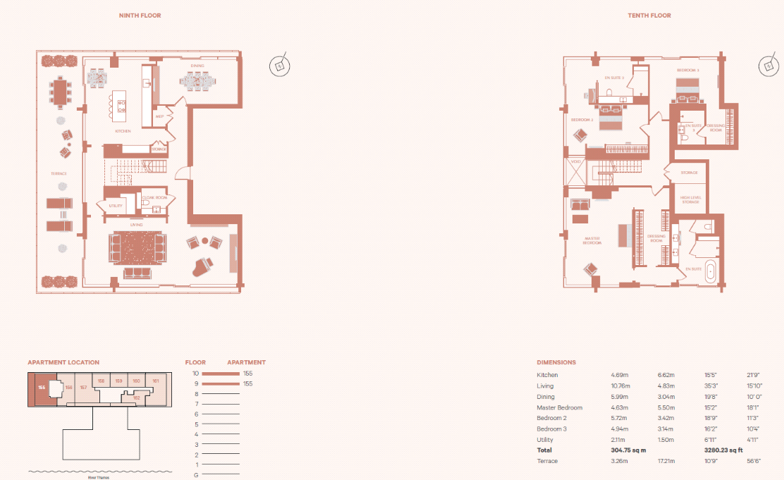 9 975 Million Luxury Penthouse In London England Floor Plans Homes Of The Rich Floor Plans Luxury Penthouse Penthouse