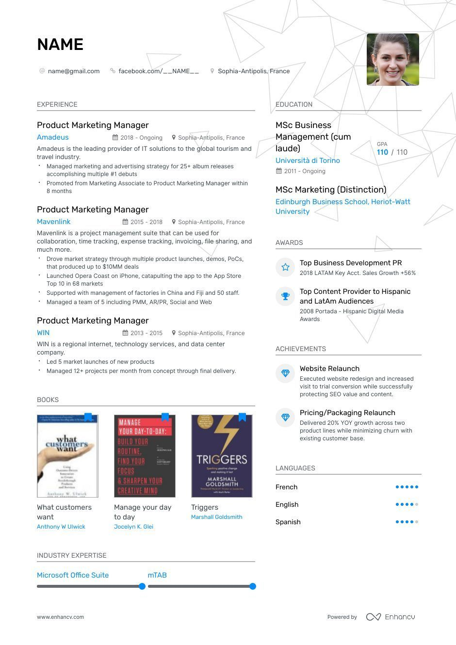 12 Professional Cv layout college project in 2020 Resume