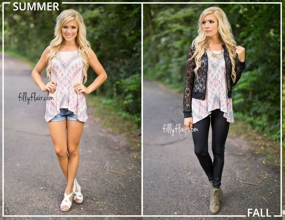 145b3e7ee5e We love this transition from summer outfit to fall outfit!