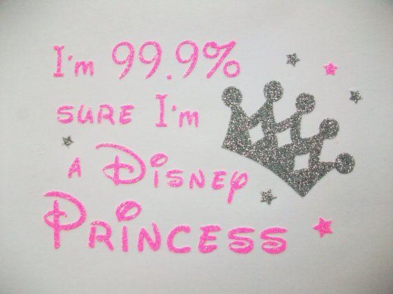 Im a princess vinyl decal diy iron on disney font