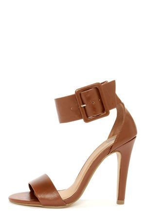 Model information is not available.                                                                                                         Chunky Ankle Strap Heels  $24.80