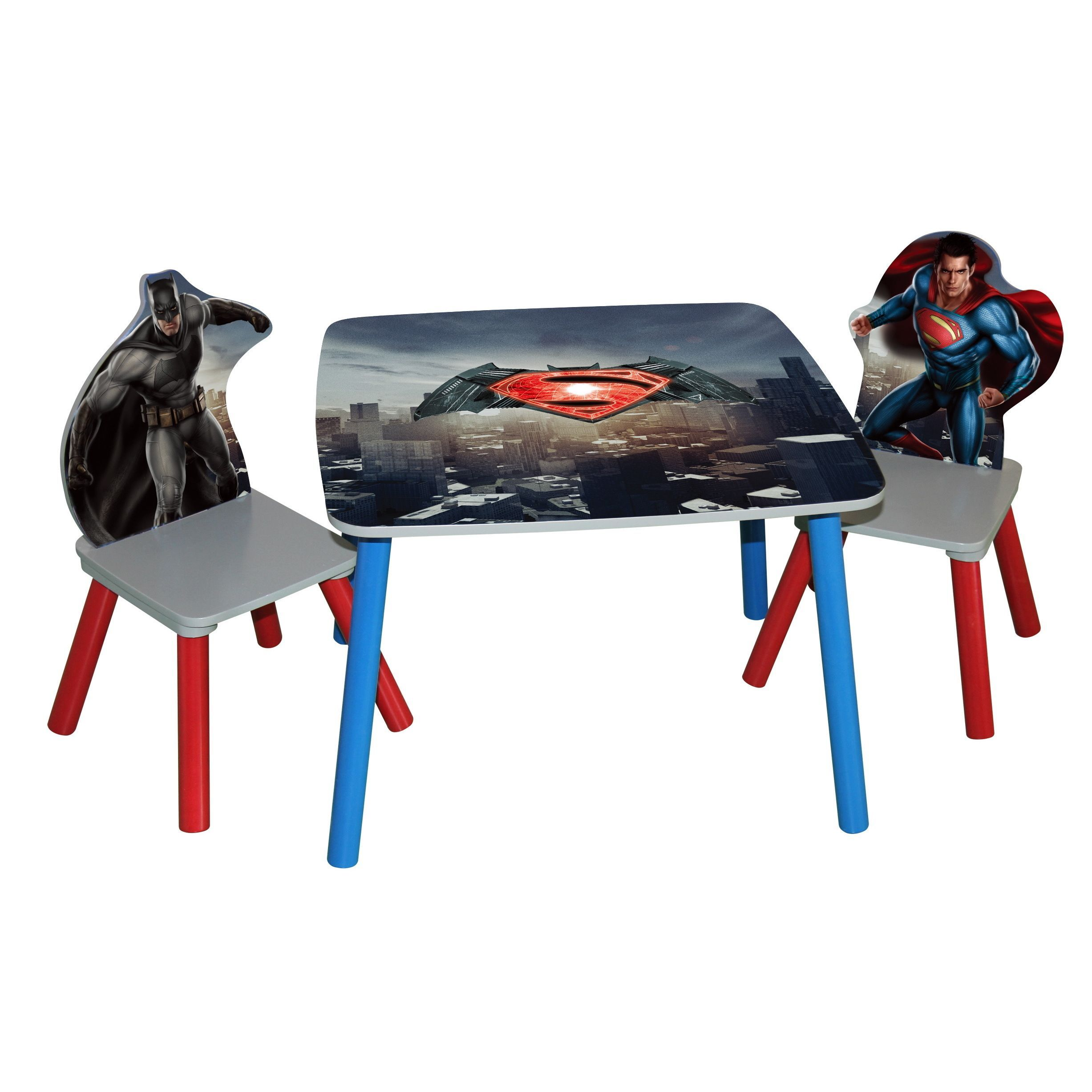Batman Childrens Table And Chairs Ethan Allen Gibson Chair O Kids Vs Superman Dawn Of Justice Wooden Set Black
