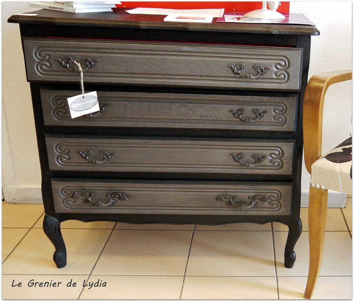 commode ch ne patin e style baroque chambre. Black Bedroom Furniture Sets. Home Design Ideas