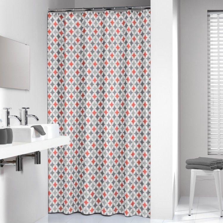 Stylish Shower Curtain Bathroom Modern Water Resistant Fabric Diamonds Pattern StylishShowerCurtain