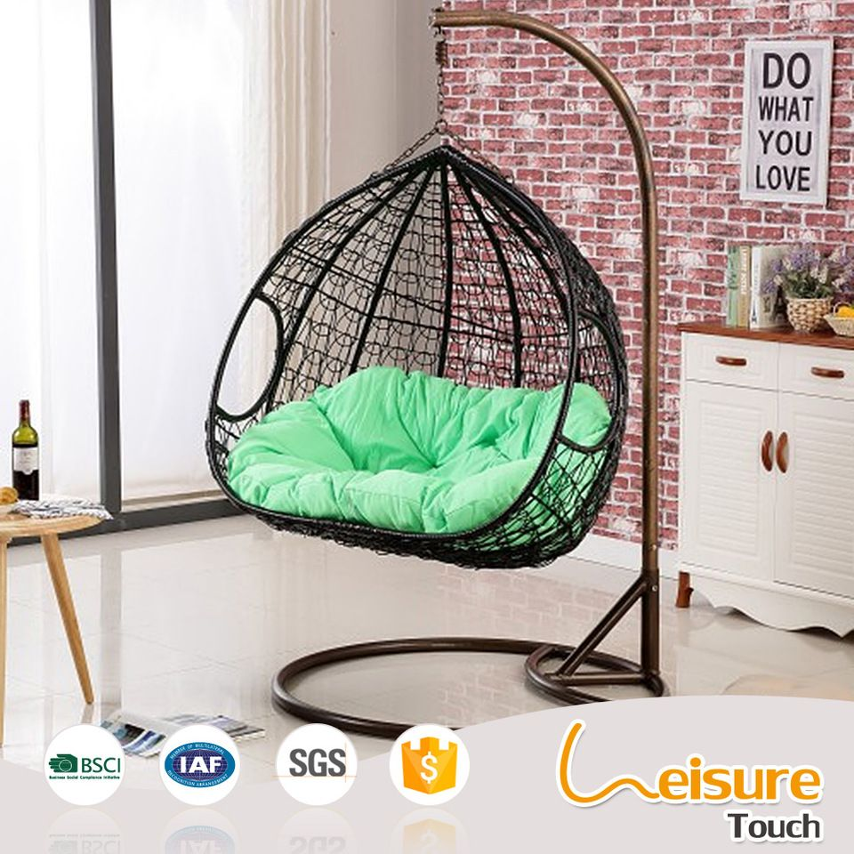 Double Egg Chair Indoor Sitting Room Outdoor Double Egg Rattan Wicker Hanging Swing