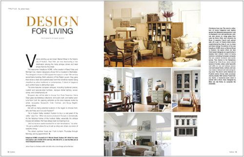 Interior Design Magazine Layout 500x323