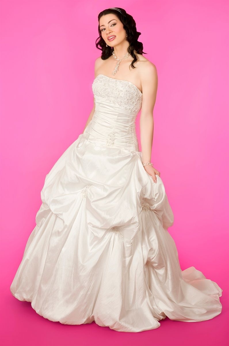 Strapless Ball gown taffeta wedding dress Ball Gown,Floor Length ...