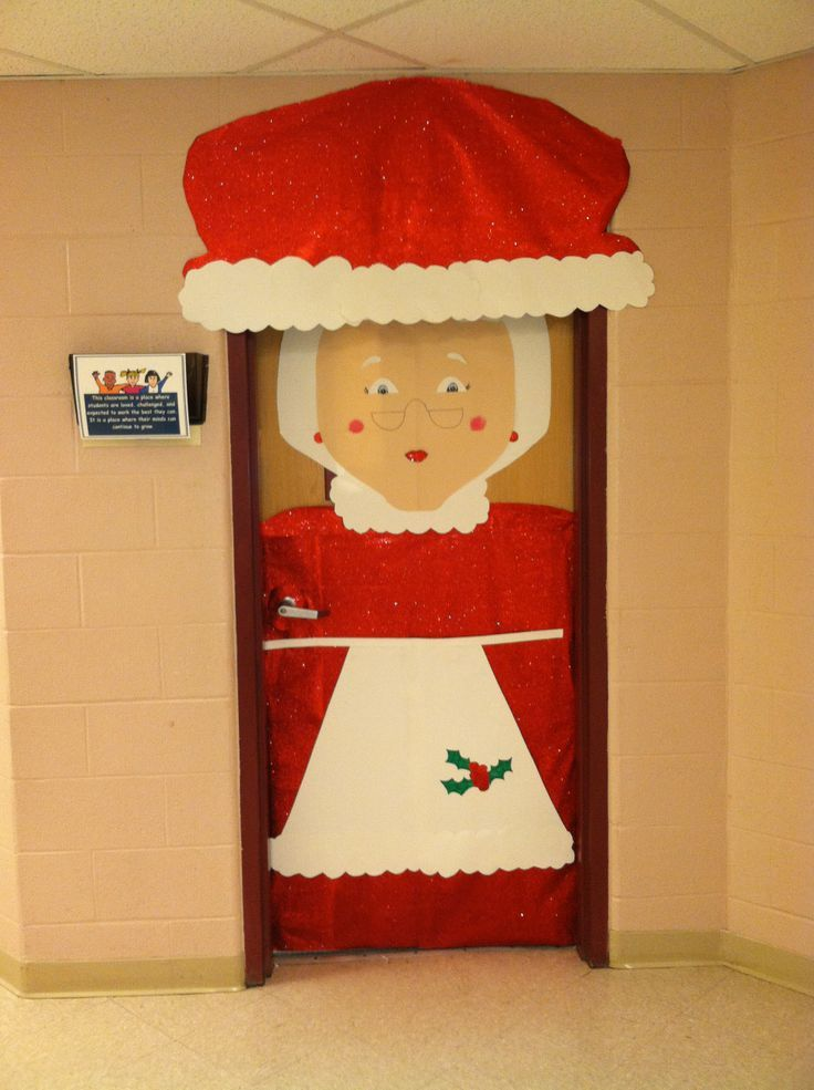 Marvelous Mrs Claus Christmas Decorations Part - 13: Mrs. Claus Christmas Classroom Door