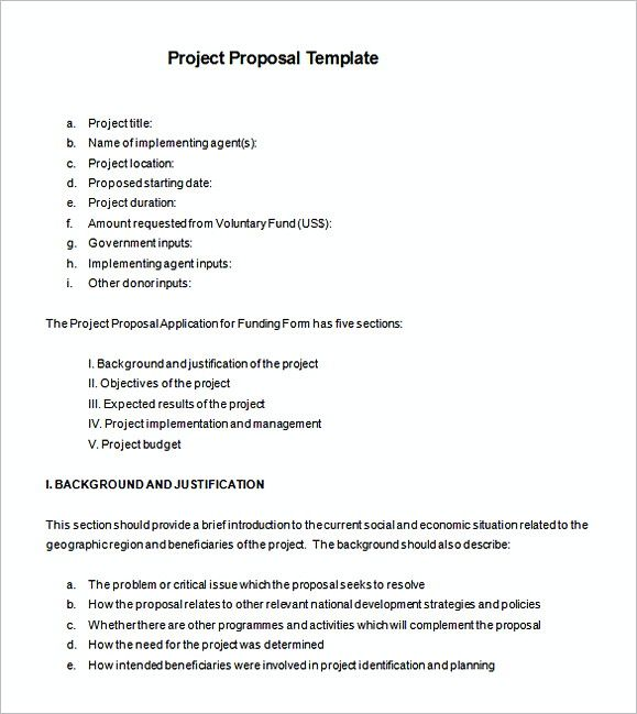 51+ Project Proposal Template