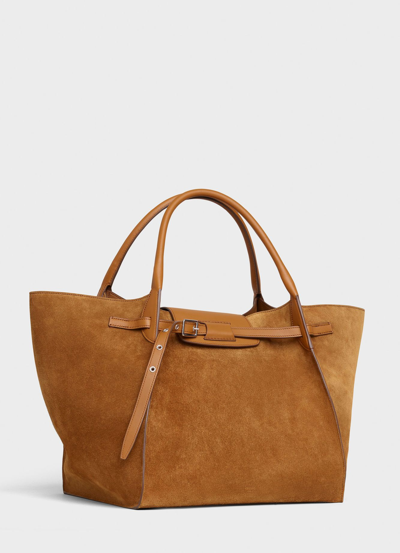 eb02c57a8 Medium Big Bag in suede calfskin - Camel - Official website | CELINE -  Official website