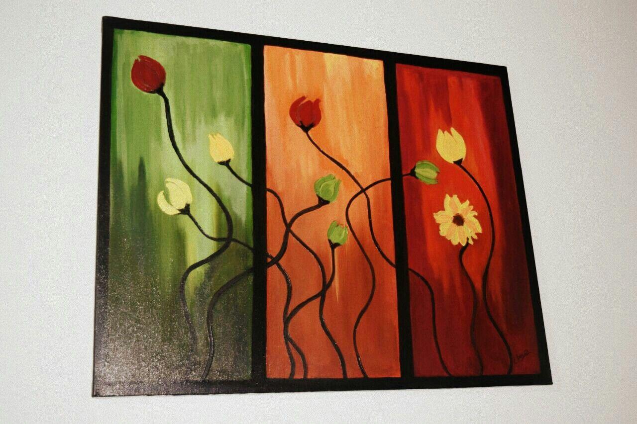 Flower contemporary art