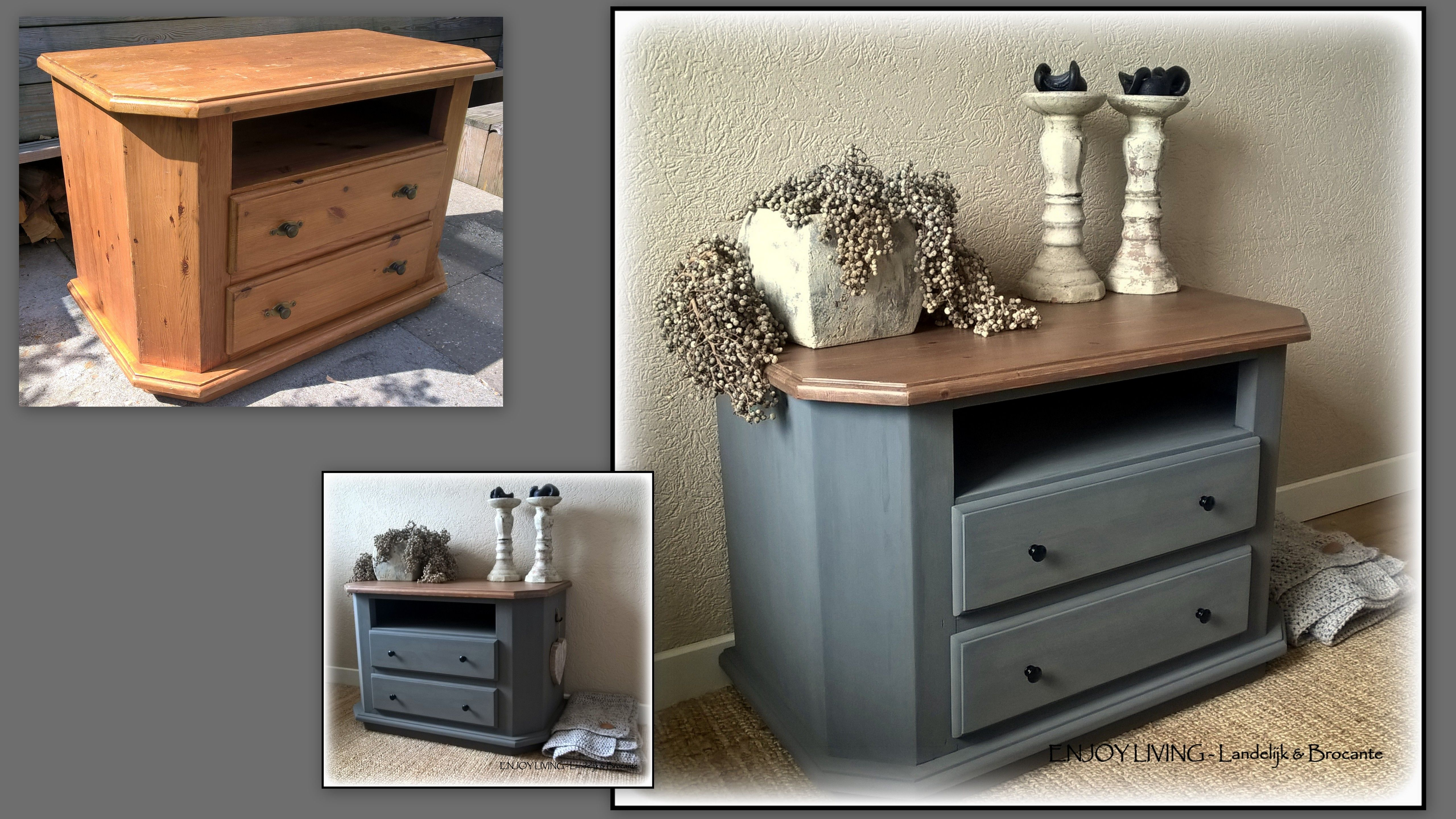 Tv Kast Dressoir.Robuust Landelijke Tv Kast Dressoir Gerestyled In Old Grey Extra