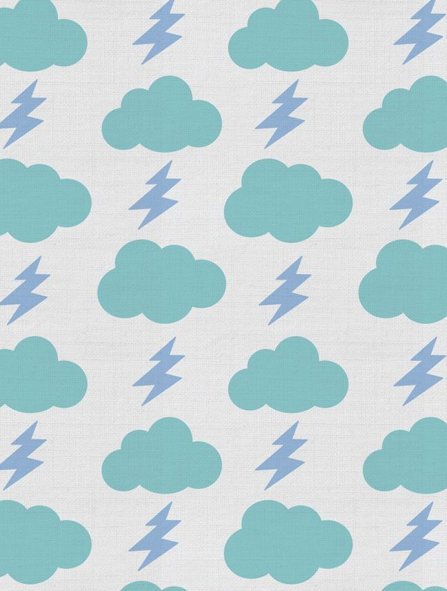 Rainbolts Fabric in lightning for Kids | Nursery | Children's Spaces