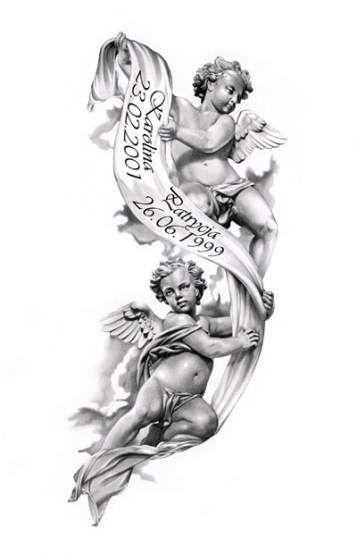 66+ Ideas Tattoo Designs Angel Drawings