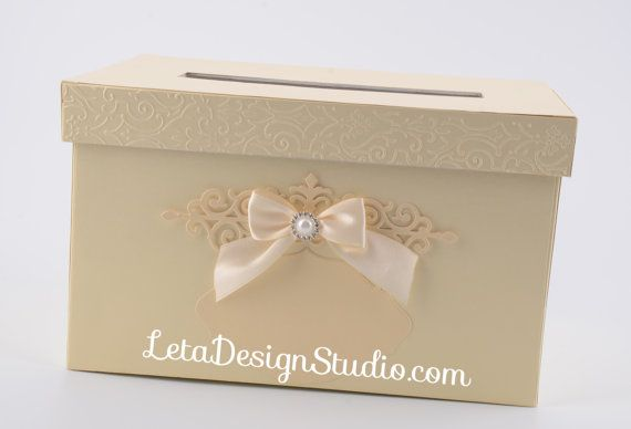 Beige Gift Card Box Сream Wedding Gift Card Box Wedding Money Box  Wedding Card holder Wedding card boxes