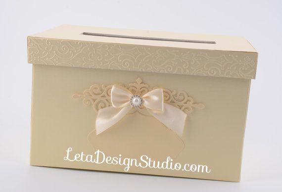 Beige Gift Card Box Сream Wedding Gift Card Box Wedding Money Box  Wedding Card holder Wedding card boxes