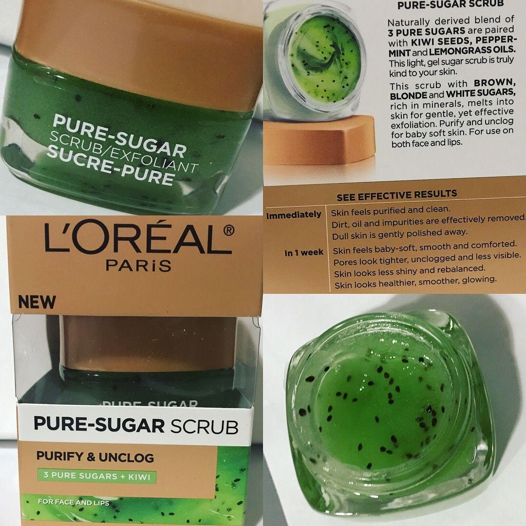 Pure Sugar Scrub Skin care hair care, Loreal hair mask
