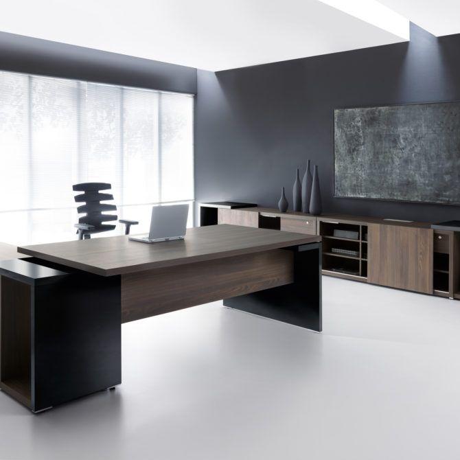 Ultra Modern Executive Black Desk Ambience Dore Executive