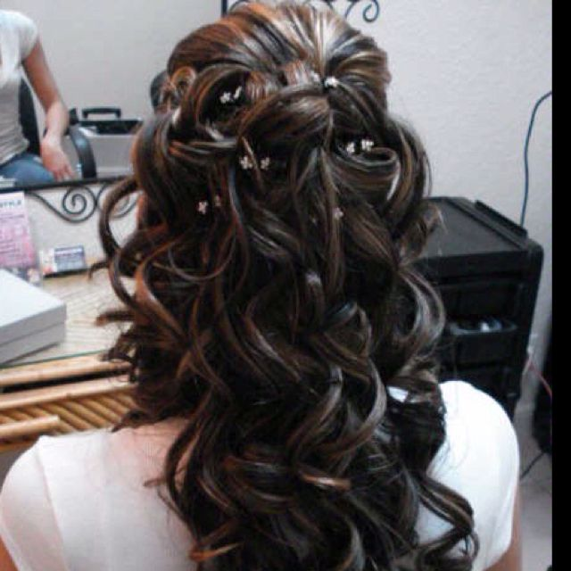Great wedding day hairstyle