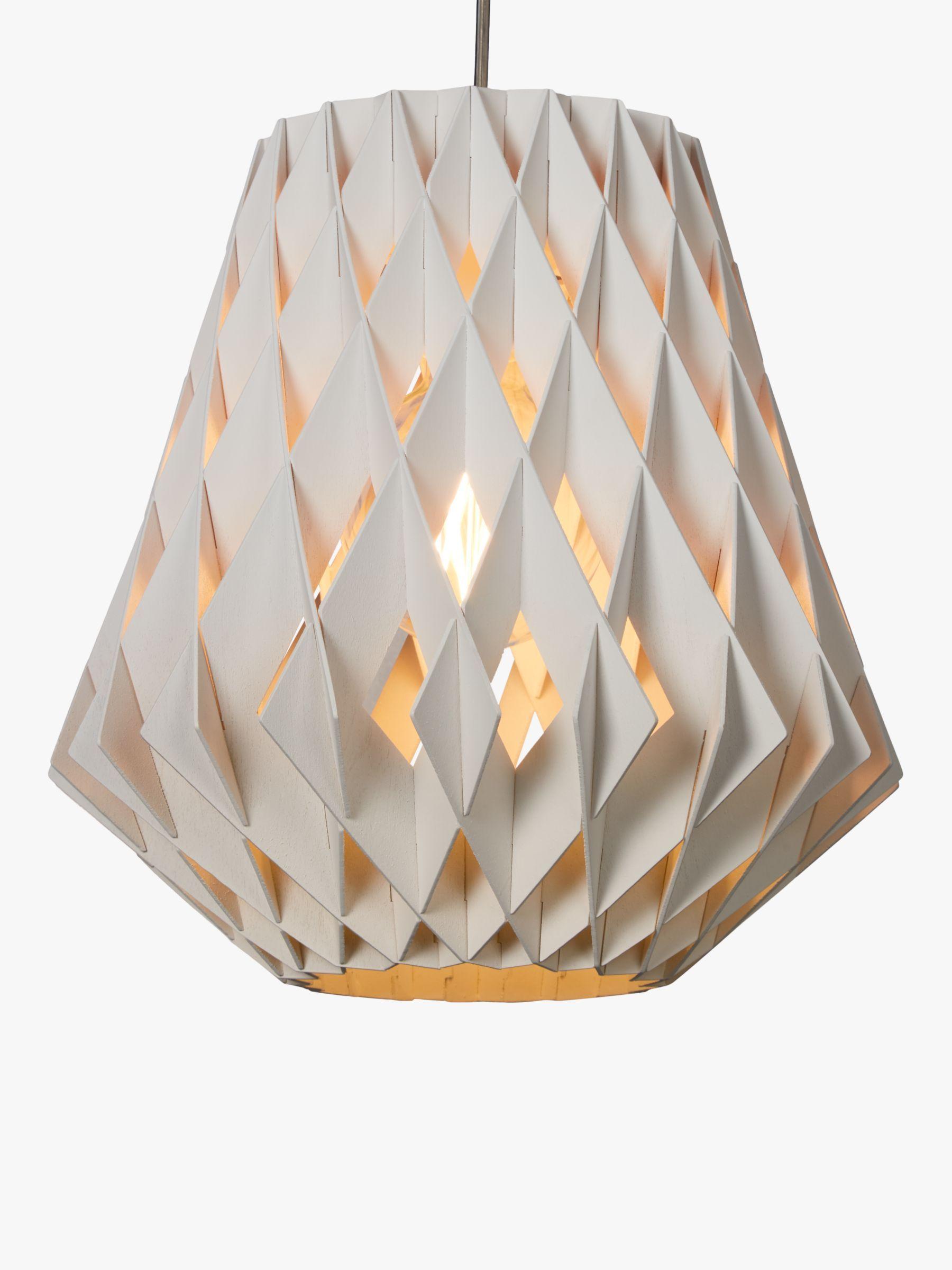 Showroom Finland Pilke Pendant Ceiling Light, 36cm, White