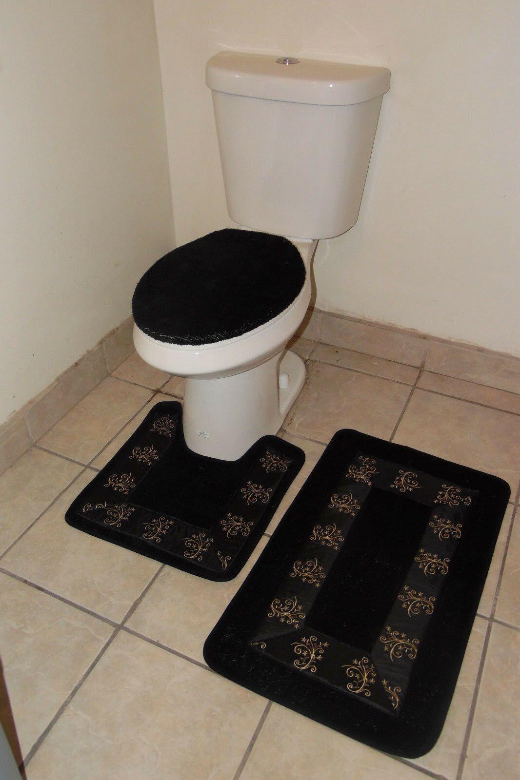 25+ Black bathroom rug set info