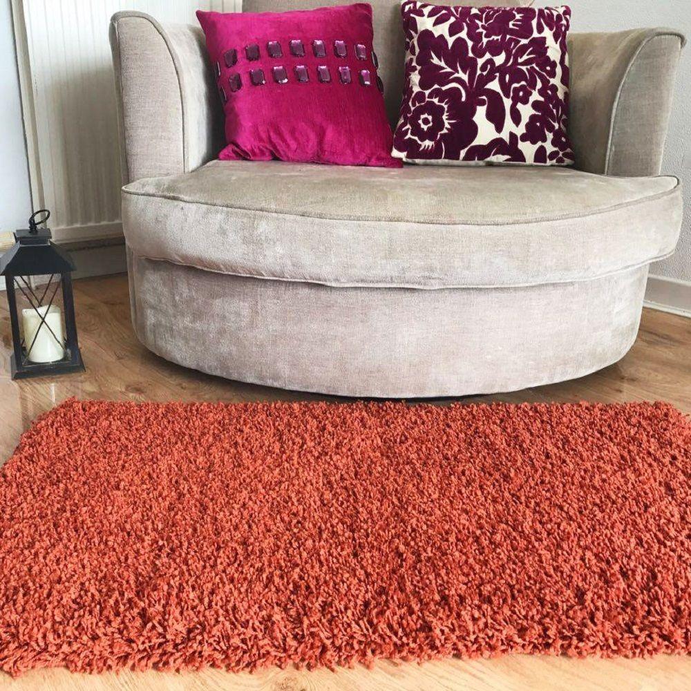 burnt orange fluffy rugs anti skid shaggy area rug dining room rh pinterest com