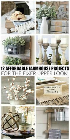 home decor tips #homedecor These beautiful projects are easy, affordable and will give your home the perfect touch of farmhouse style. #homedecortips