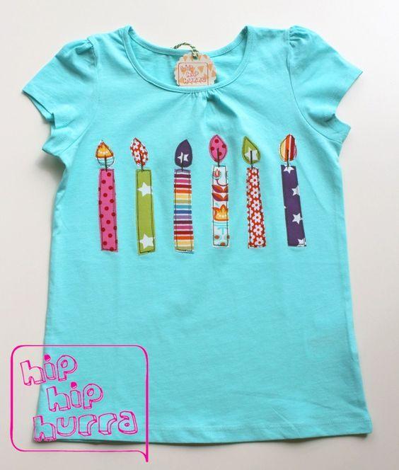♥ Absolut unverzichtbares Geburtstags-Shirt für die 6jährige Partylöwin. ♥  Bis max. 6 Kerzen zum o.a. Preis, jede zusätzliche Kerze gibt's fü… | Baby clothes patterns, Sewing for kids, Birthday shirts