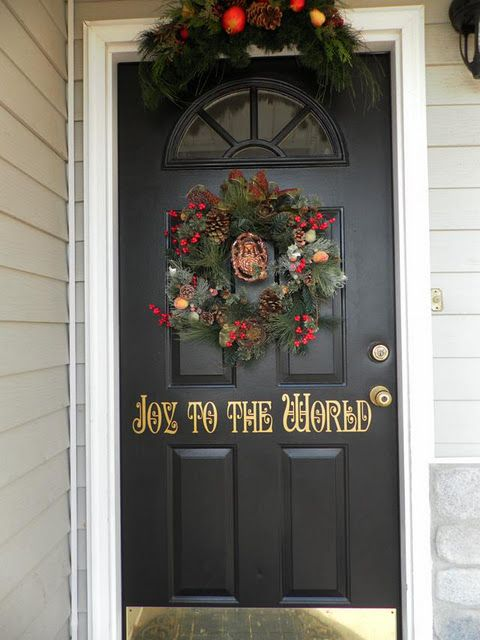 Beautiful Christmas Door I Love The Joy To World Part