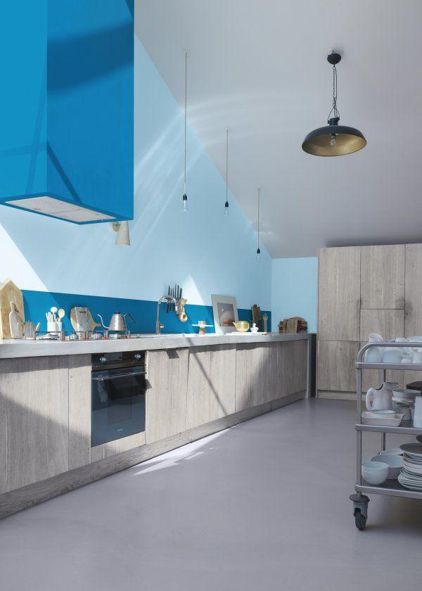 Couleur La Peinture Decorative Et Depolluante De Zolpan Peinture Bleu Peinture Decorative Peinture Cuisine