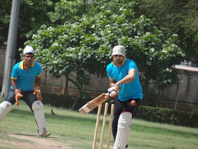 Careful shot - PCCare247 Cricket Tournament 2012