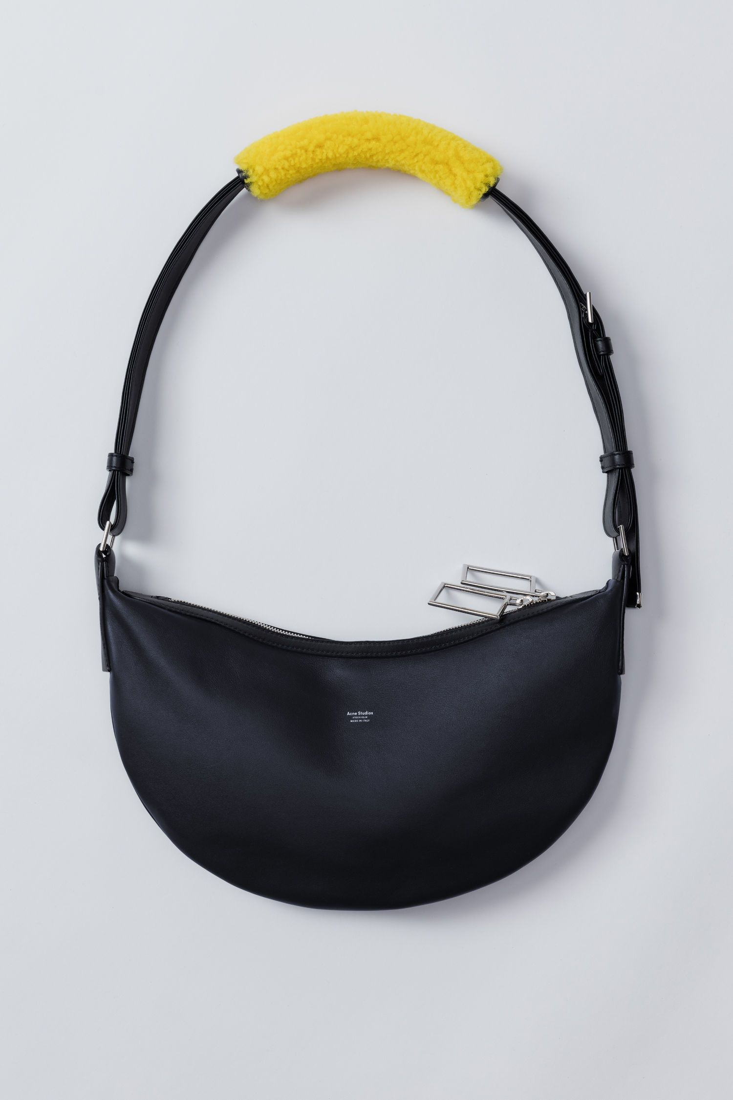 ACNE STUDIOS Funpack dark blue.  acnestudios  bags  shoulder bags  leather   canvas  lining   eb4a420f9cde4