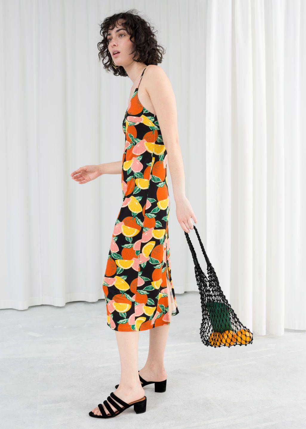 4d10669ff22d Printed Midi Slip Dress   Get on my body.   Dresses, Fashion dresses ...