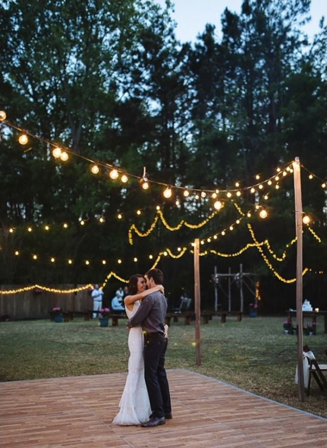 20 Backyard Wedding Details That Will Make You Ditch Your Big Venue Wedding Backyard Reception Backyard Wedding Decorations Dance Floor Wedding