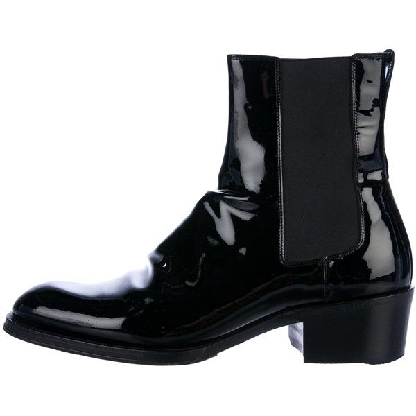 707cbdddcbb Pre-owned Tom Ford Patent Leather Chelsea Boots (1
