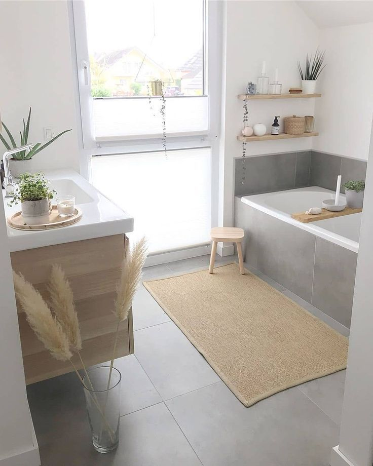 Large, bright and stylish bathroom by @fraeulein__mimi …-#bathroomideas | Ricette Pesce ?