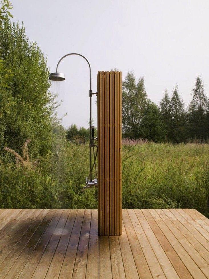 Outdoor Showers: 20 Ideas for Bathing en Plein Air | Bureaus, Black ...