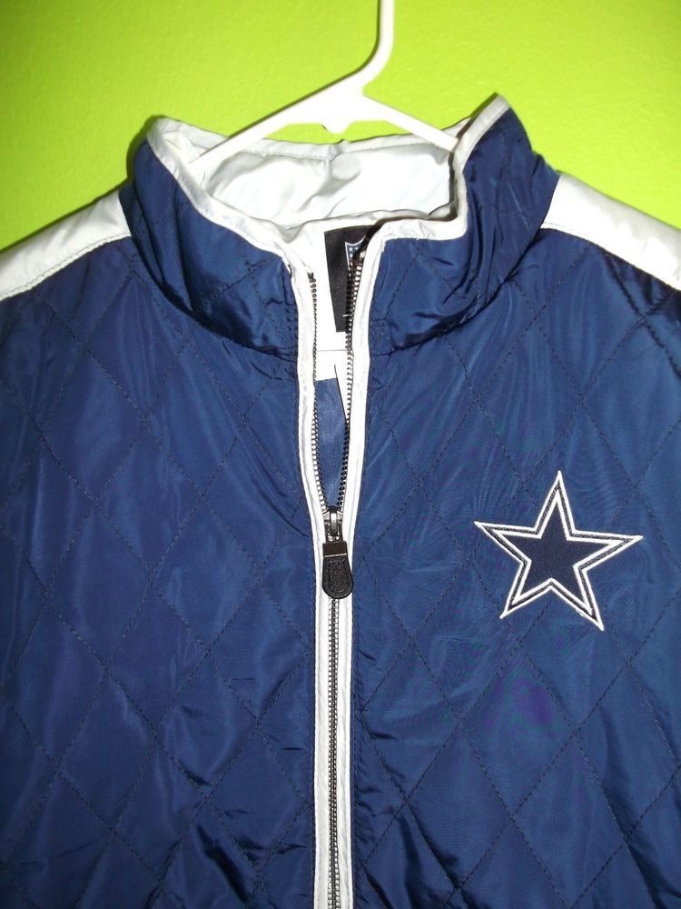 d52b2f723 NWT Authentic NFL Apparel Dallas Cowboys Quilted Jacket-Sz XL 1X Womens   NFLTeamApparel  DallasCowboys